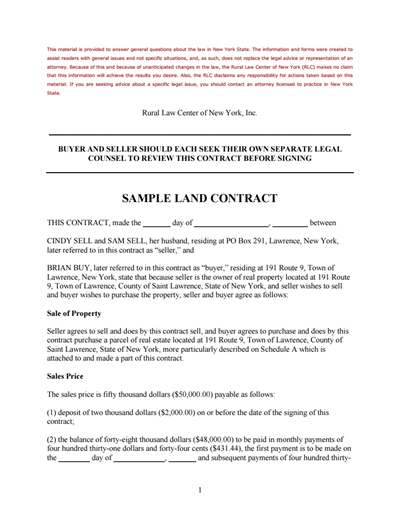 Land Contract Template: Free Download, Create, Edit, Fill and
