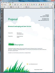 Lawn Care Proposal Template   Pccc.us