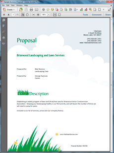 View Lawn Care and Landscaping Services Proposal | Pinterest