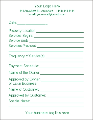 Lawn Care Bid Proposal Template Free | one piece