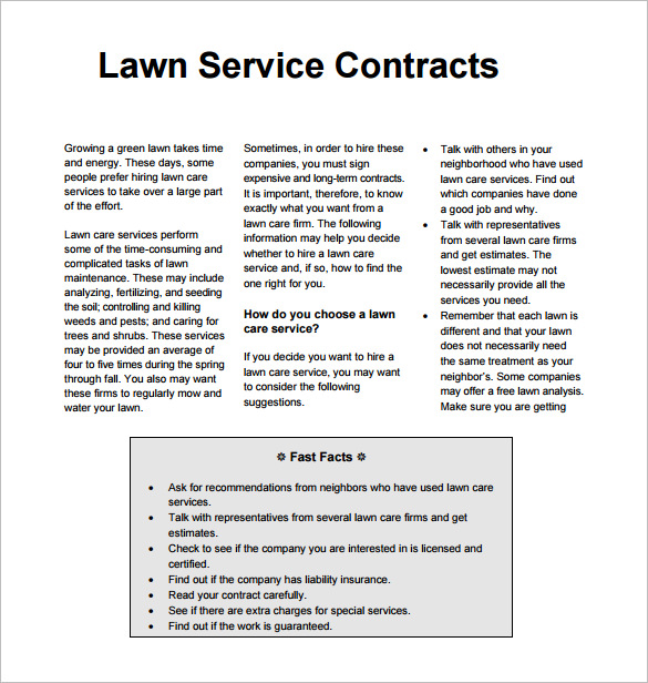 lawn care proposal template bid proposal templates 15 free sample