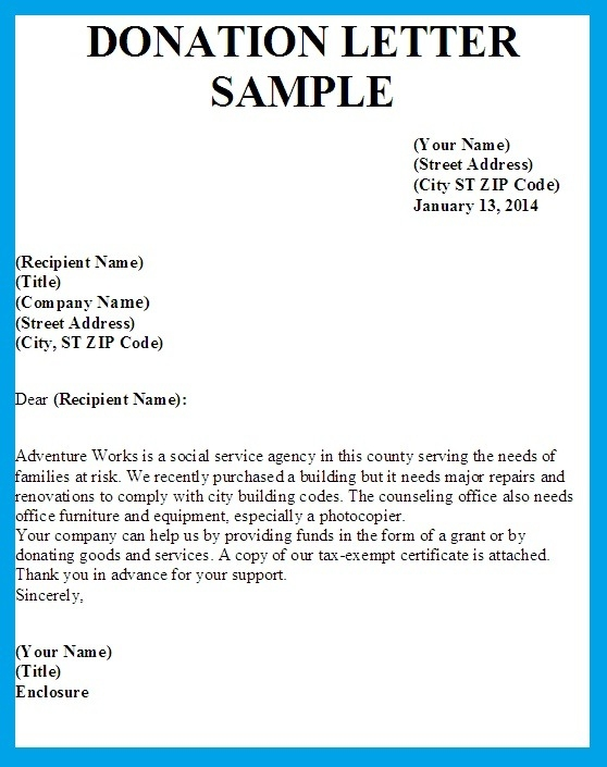 Donation Letter Sample | bravebtr