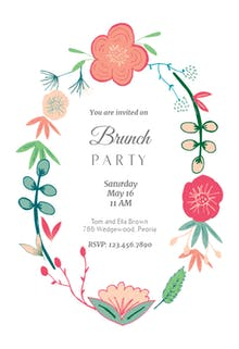 Brunch & Lunch Party Invitation Templates (Free) | Greetings Island