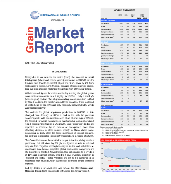 Market report example marketing report format idealvistalistco