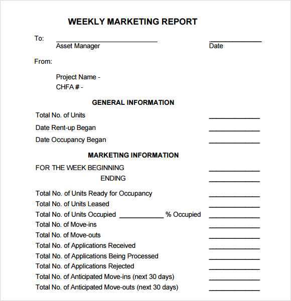 14+ Sample Marketing Report Templates | Sample Templates