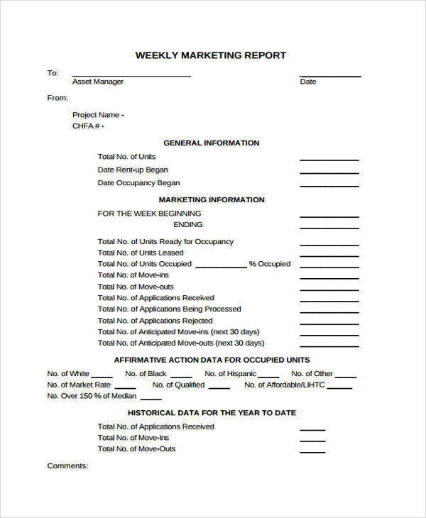 10+ Marketing Report Templates   Free Sample, Example Format