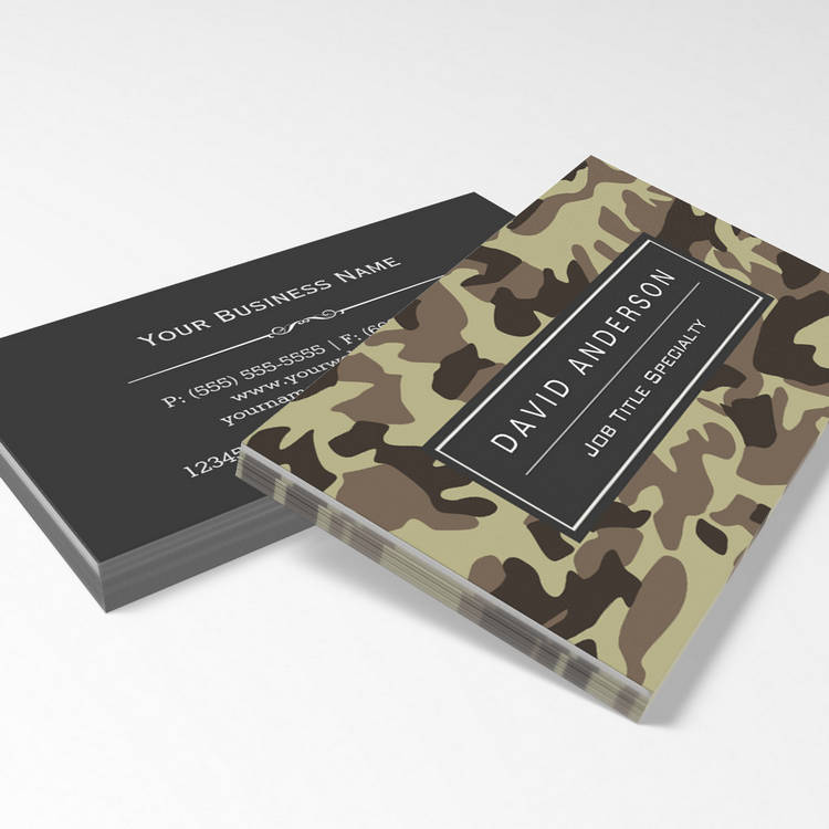 camo business cards hunter stylish military camouflage camo