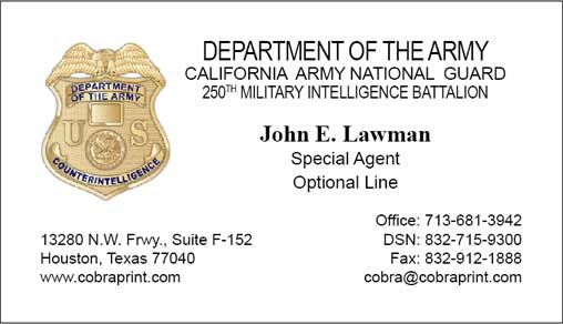 Military Business Cards   Songwol #f653d7403f96