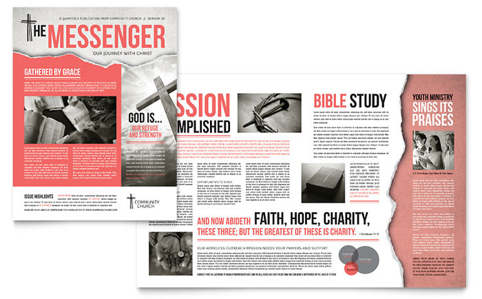 Newsletter Templates   InDesign, Illustrator, Publisher, Word, Pages