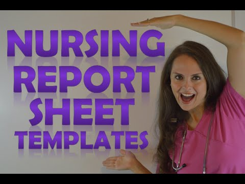 nursing report template   fototango.tk