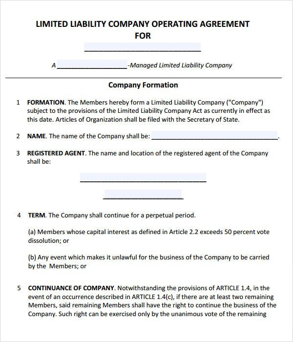 operating agreement template llc operating agreement template llc