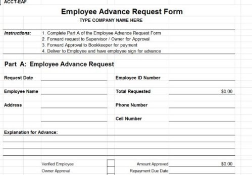 pay advance form   Pinep.handshakeapp.co