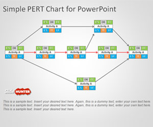 Free PERT Chart Template for PowerPoint