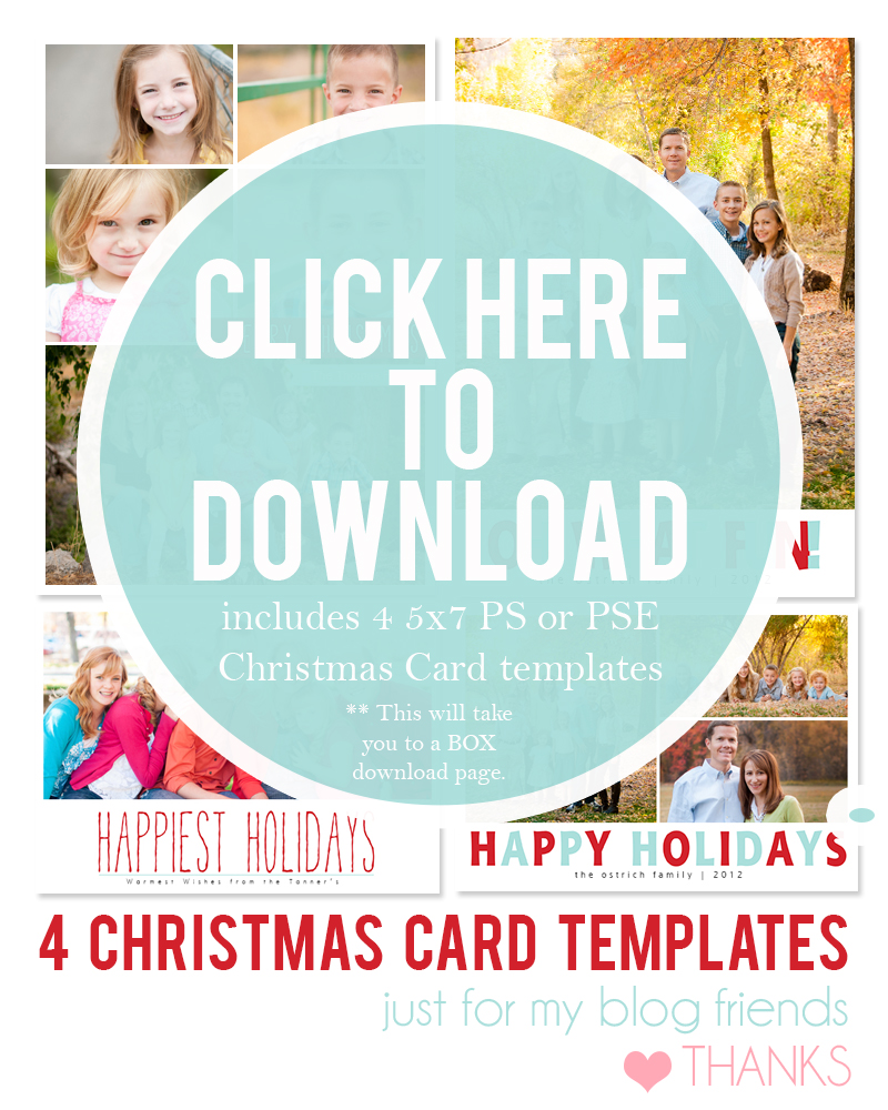 Free Photo Christmas Card Templates (AI, PSD) on Behance