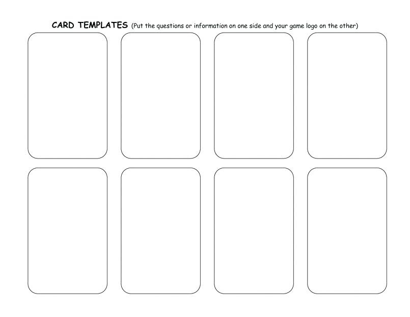 Blank Playing Card Template Playing Cards Spades With Printable