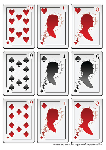 Playing Cards Template Set Stock Vector. Illustration Of Luck
