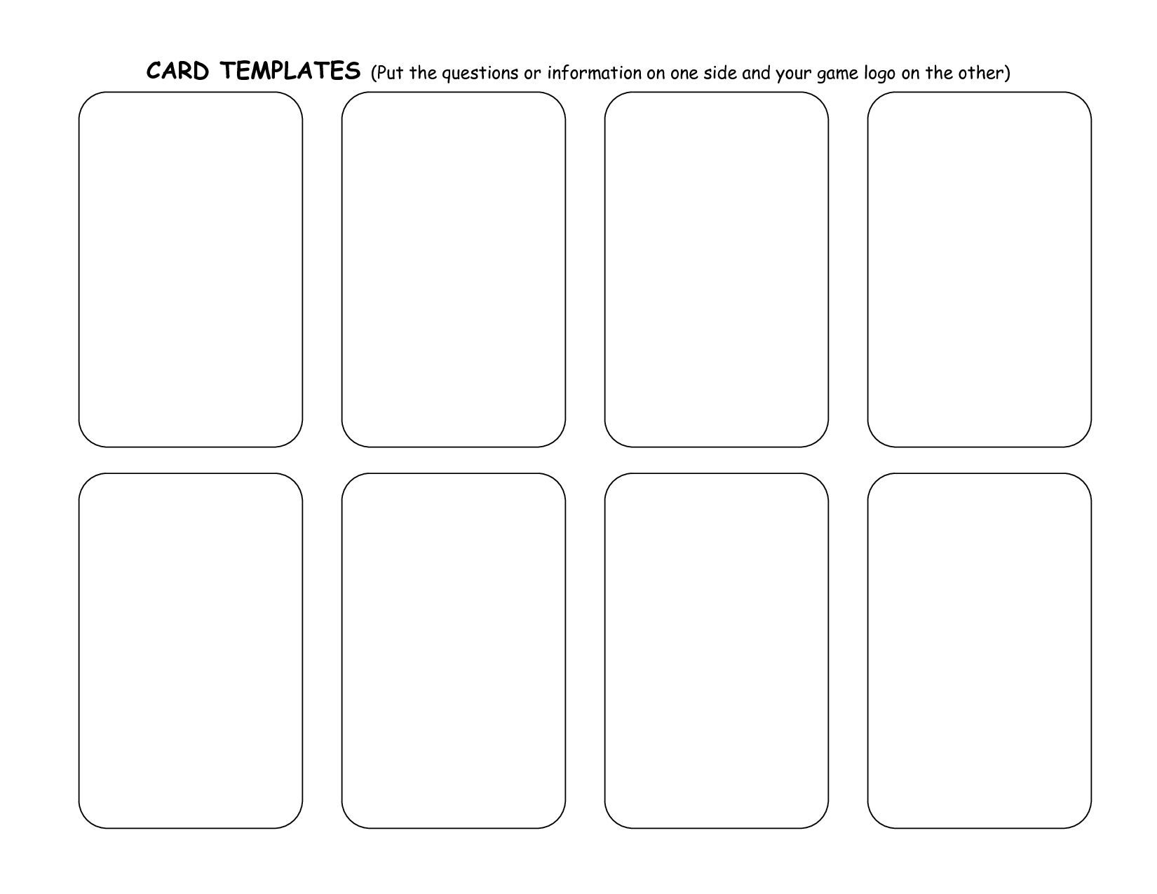 Blank Playing Card Template | One day | Pinterest