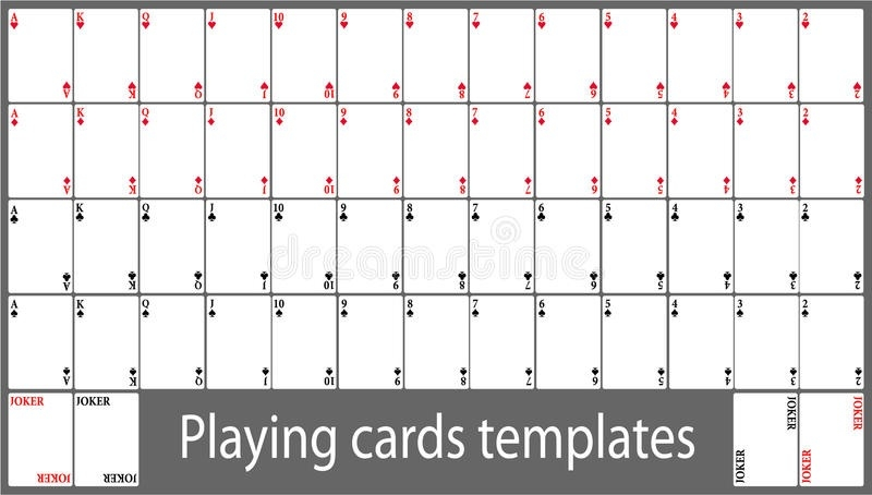 Playing cards template set Stock Vector Art & Illustration, Vector