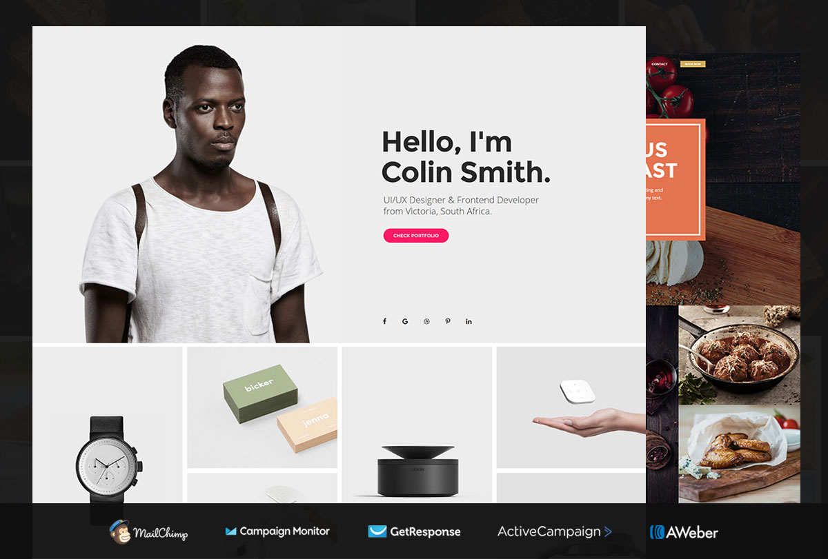 Brilliant Ideas for Free Portfolio Website Template With