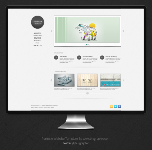 Collection of Solutions for Free Portfolio Website Template In
