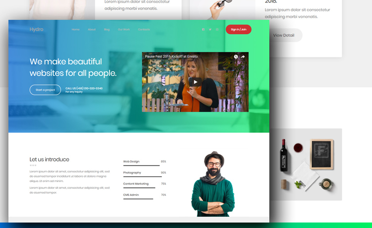 Free Portfolio Website Template To Create A Beautiful Personal Website