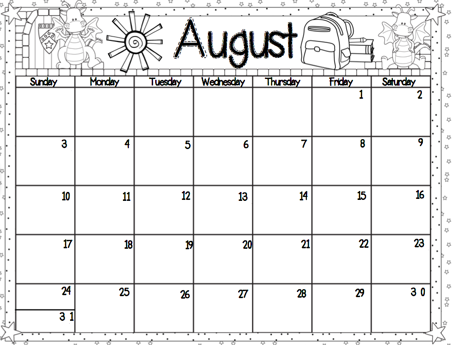 Collection of Preschool calendar template | Download them and try