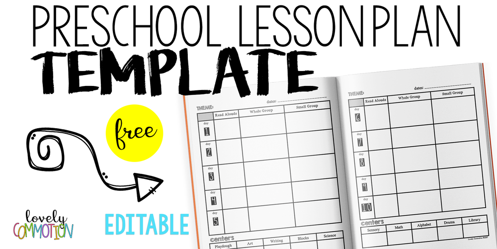 Easy (and free) Preschool Lesson Plan Template — Lovely Commotion