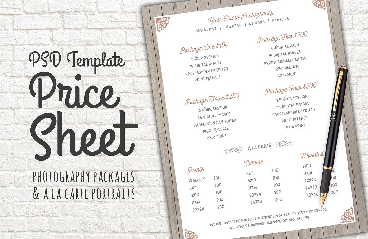 Price List Template – 19+ Free Word, Excel, PDF, PSD Format