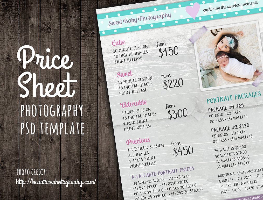 Price List Template in Excel | Free Download   Printable Spreadsheet