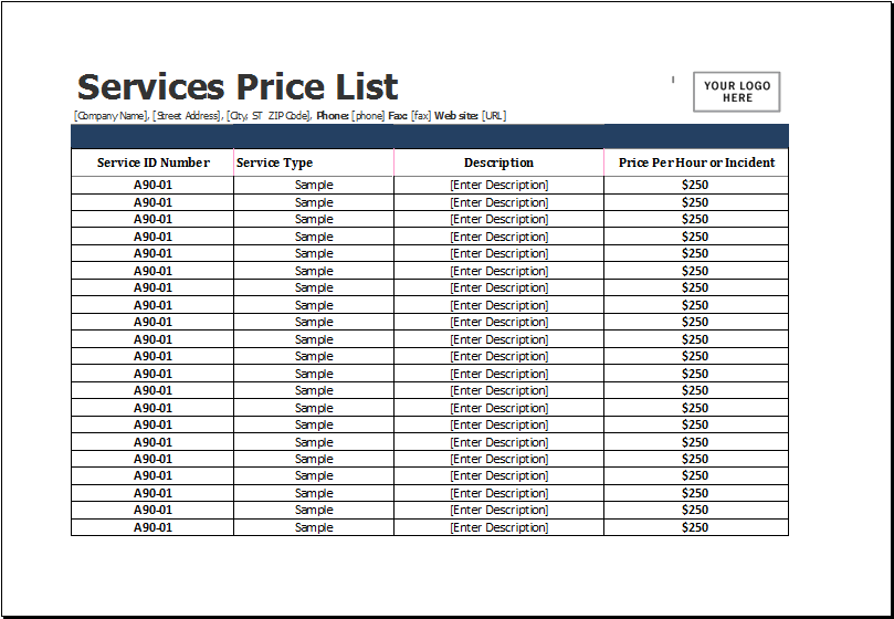 9+ Retail Price List Templates   Free Word, PDF, Excel Format