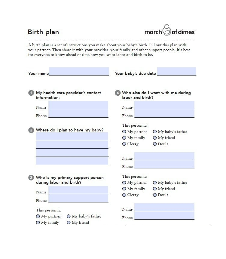 10 FREE Printable Pregnancy Birth Plans & Hospital Bag Checklists