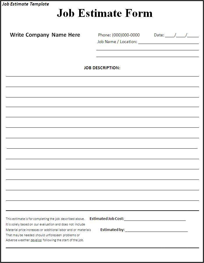 44 Free Estimate Template Forms [Construction, Repair, Cleaning]