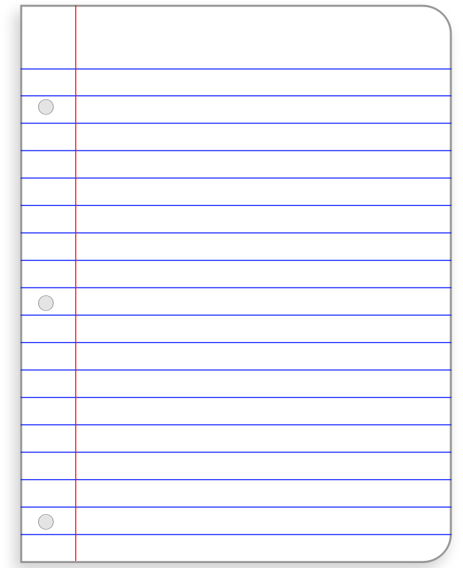 Printable Notebook Paper Pdf   Printable Pages