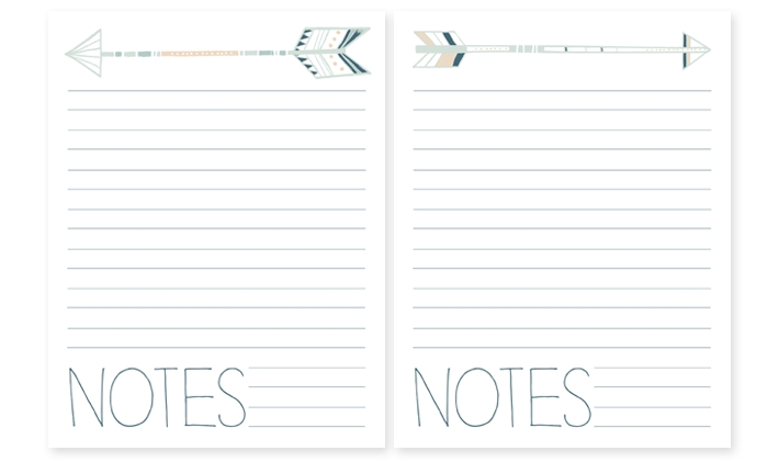Printable Notebook Paper With Designs | World of Label