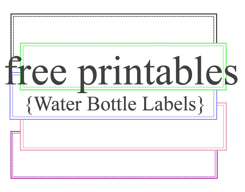 free water bottle label template free printable water bottle label