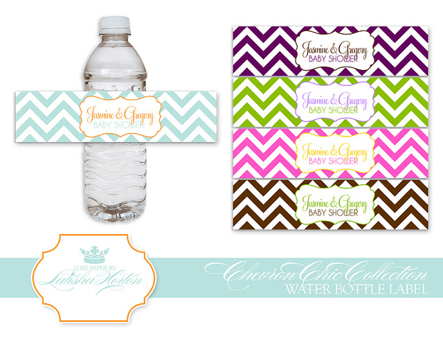 Ba Shower Labels Templates Baby Shower Water Bottle Labels