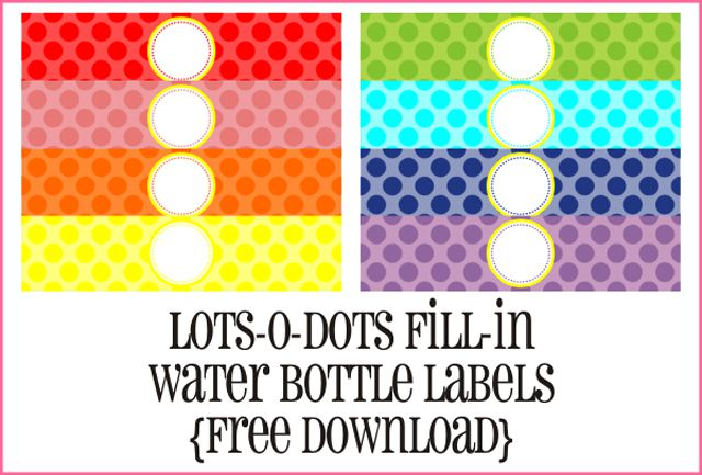 8 oz water bottle label template.