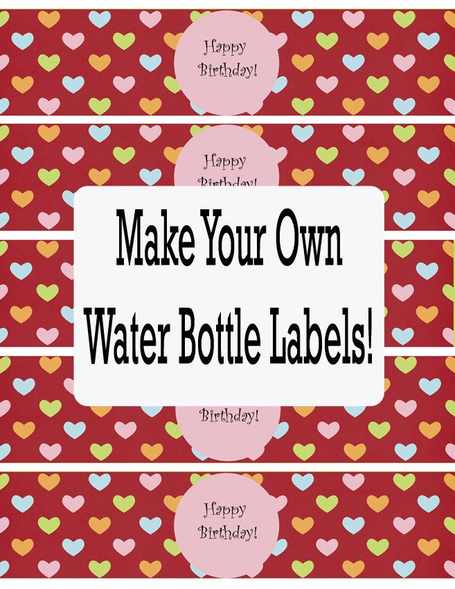 Printable Water Bottle Labels Free Templates - Printable-water-bottle-labels