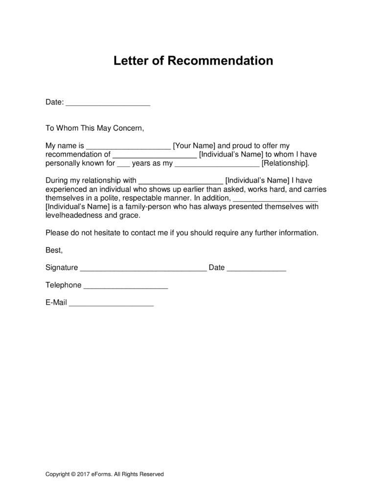 19+ Professional Reference Letter Template   Free Sample, Example