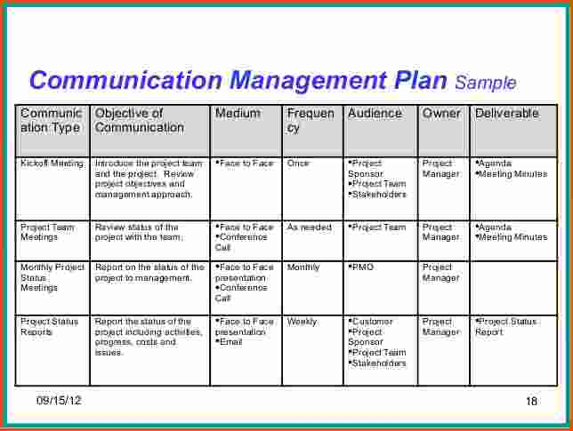 Project Communication Plan Example | beneficialholdings.info