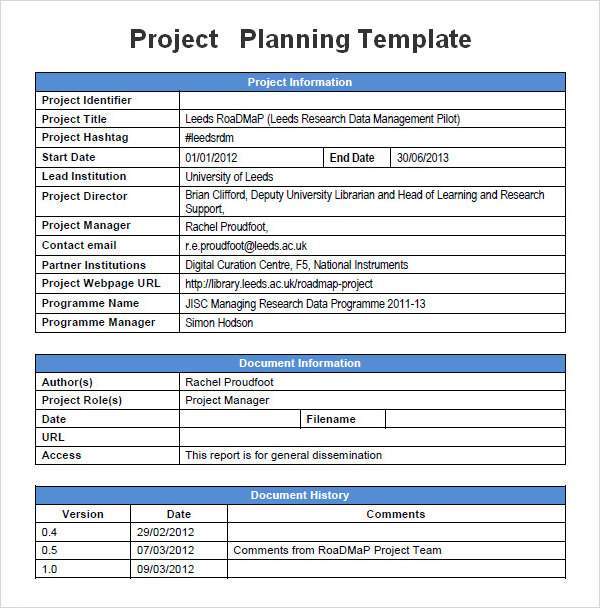 19 Useful Sample Project Plan Templates to Downlaod | Sample Templates