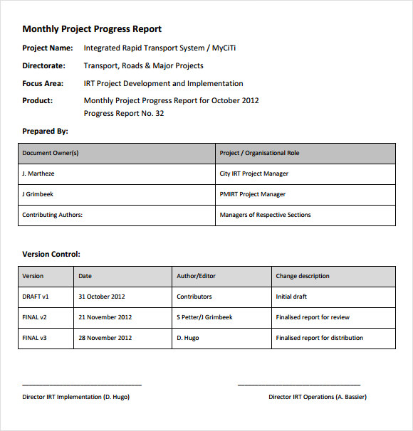 project progress report sample   Into.anysearch.co