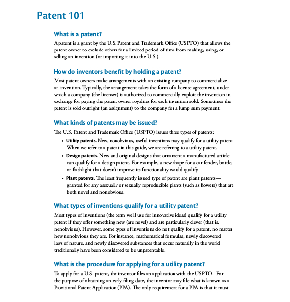 patent proposal template patent application template 12 free word