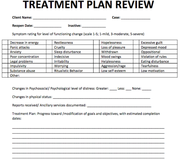 treatment plan template   Mini.mfagency.co