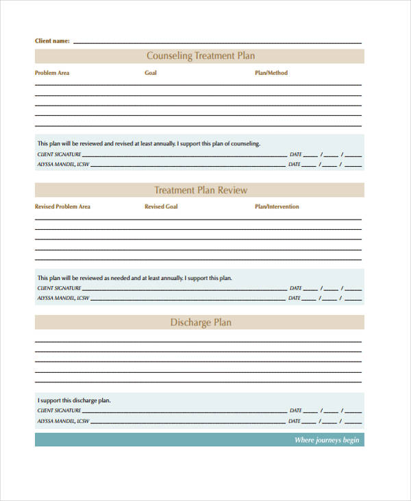 Treatment Plan Review | Free Counseling Note Templates | Pinterest