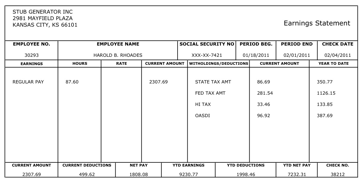 9 free 1099 pay stub template securitas paystub check download