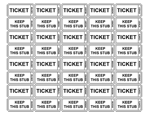 free printable raffle tickets | Free Printable Raffle Ticket