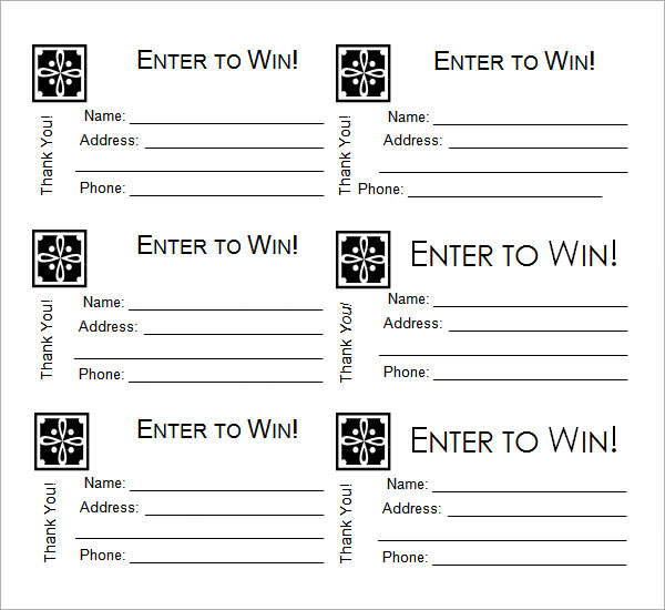 free printable raffle ticket template free printable raffle