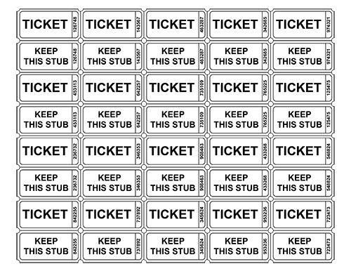 free printable raffle ticket template raffle tickets templates