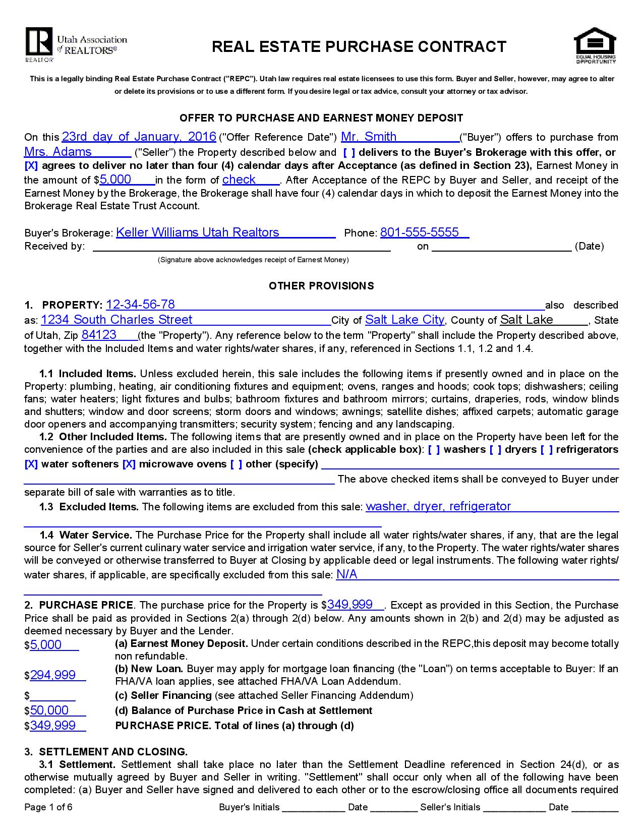 Inspirational Real Estate Purchase Agreement Template
